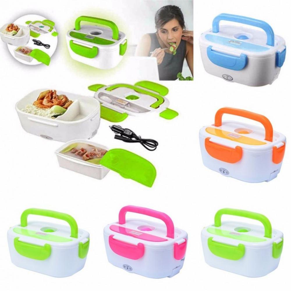 """Контейнер для еды с подогревом """"Electric Lunch Box"""" от прикуривателя"""