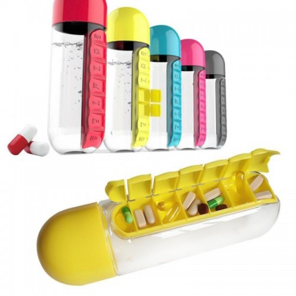 "Бутылка ""Pill & Vitamen organizer bottle"" (0,6 литра)"