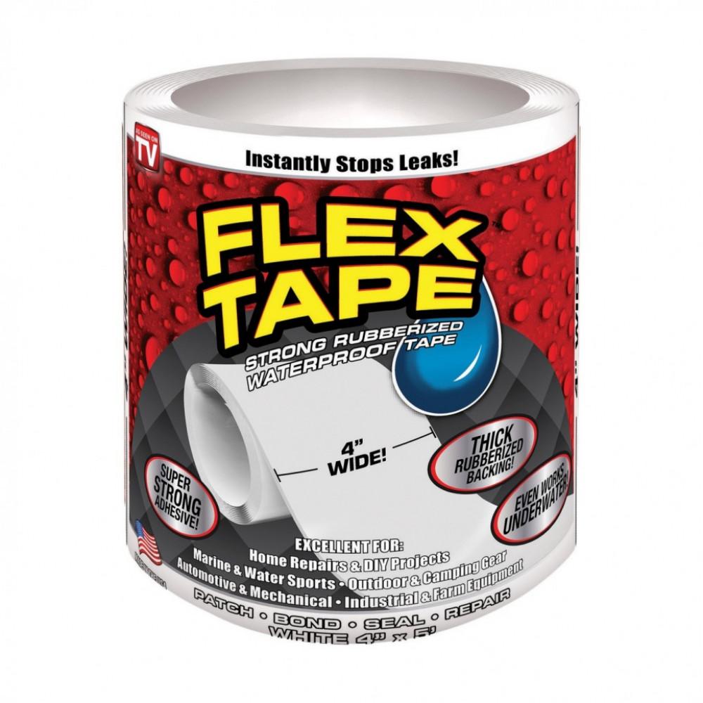 """Сверхсильная клейкая лента """"FLEX TAPE"""" белая"""