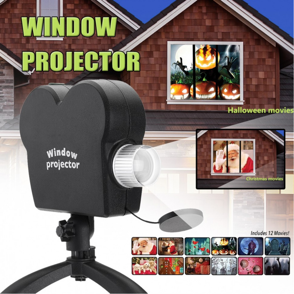 "Проэктор ""Mini Holiday Video Window Projector Lamp Halloween Christmas"""