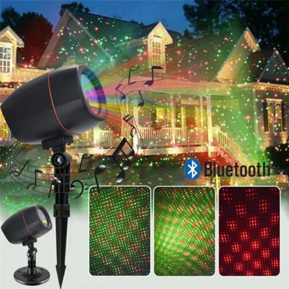 "Проектор музыкальный ""Led music speakerlaser light stage bar party laser projector"""