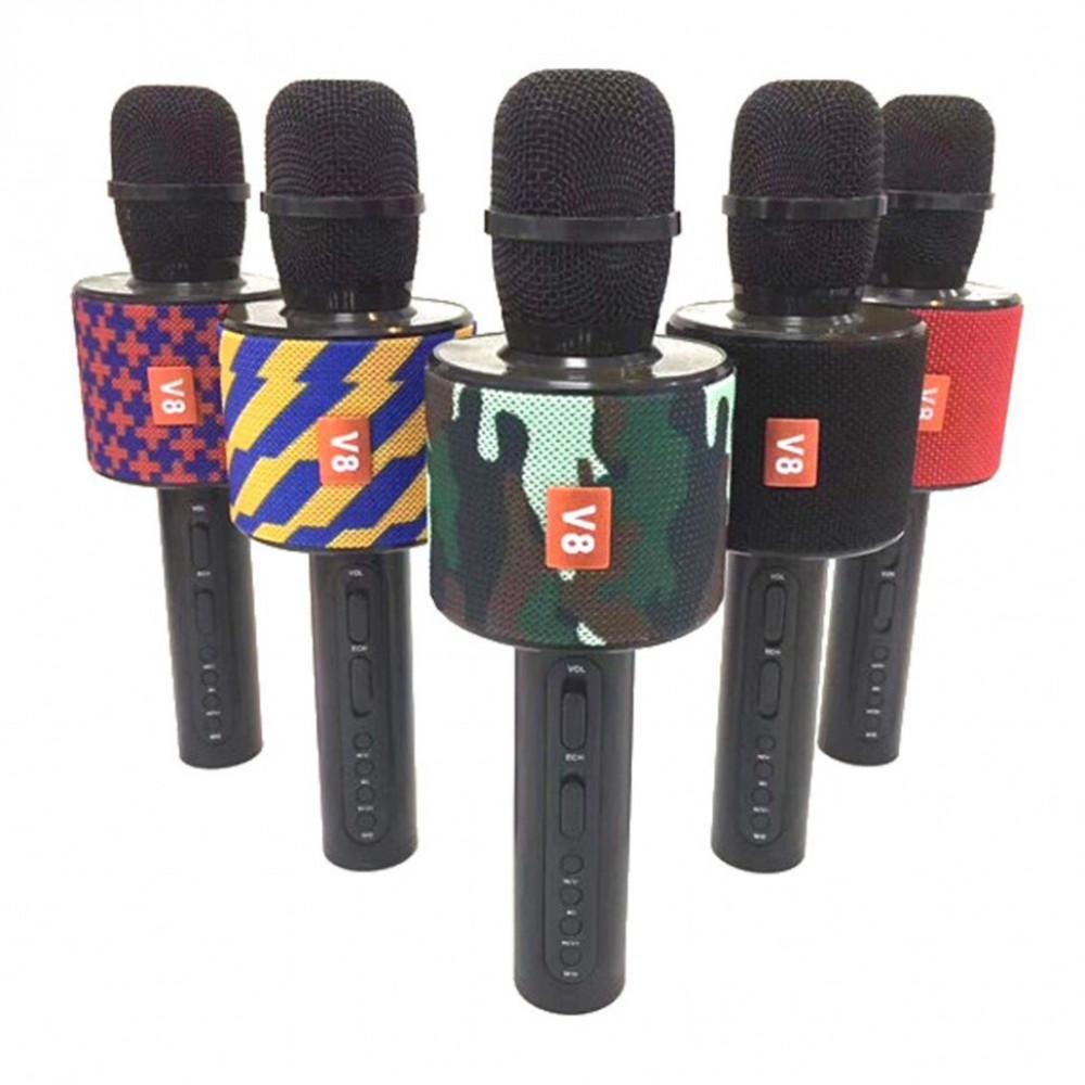 Беспроводной караоке микрофон V8