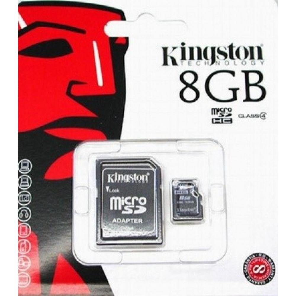 "Карта памяти  ""Kingston"" (microSD HC 8 ГБ, Class 4)"