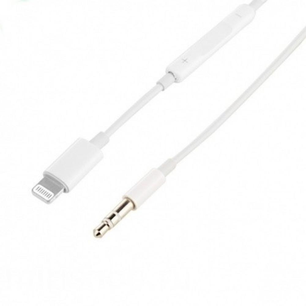 Аудио-переходник с регулятором громкости с Lightning на Jack 3.5mm