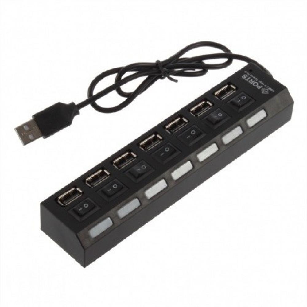 """USB разветвитель """"2.0 HUB HI-SPEED"""" с 7 выходами"""