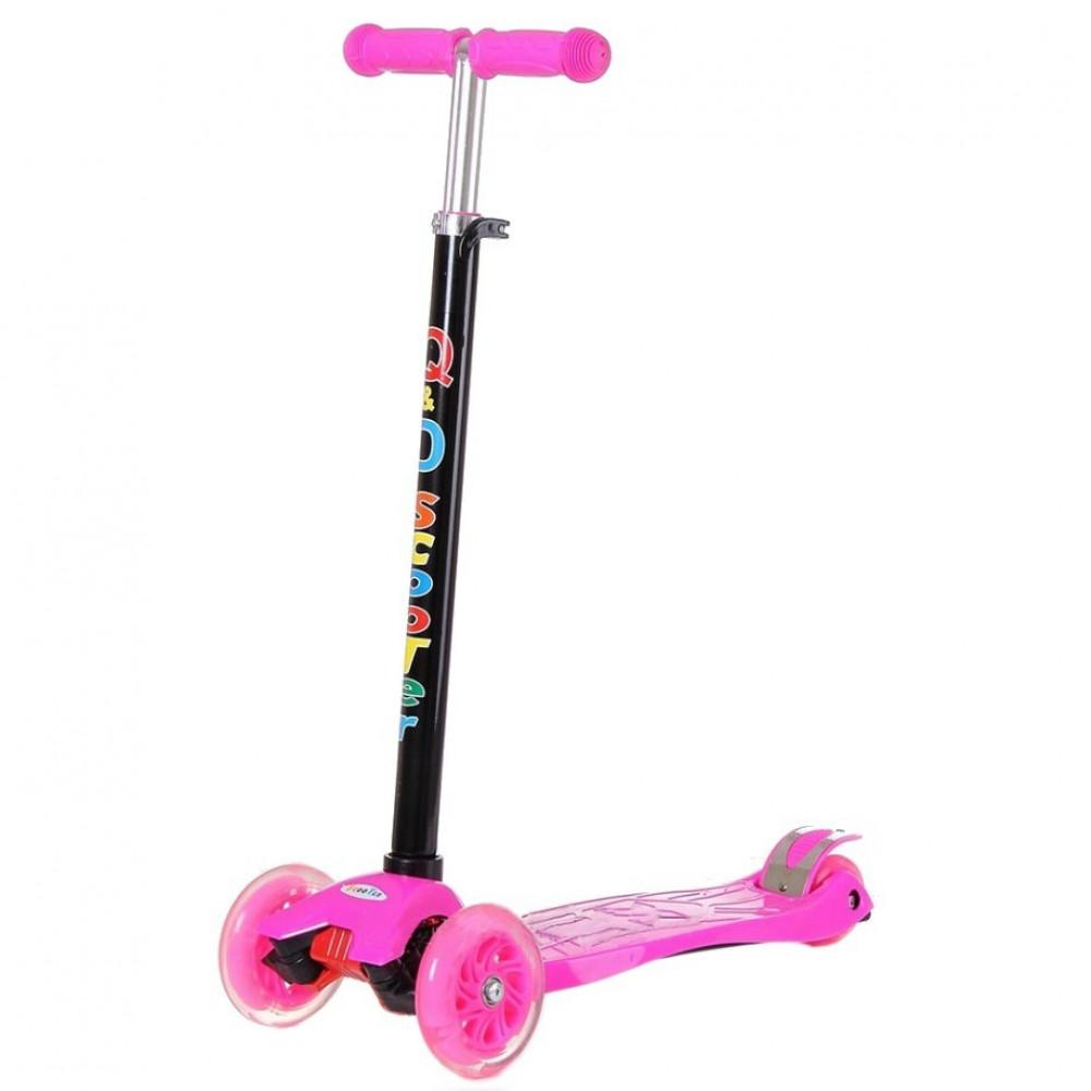 Самокат музыкальный детский со светящимися колесами (60 см)