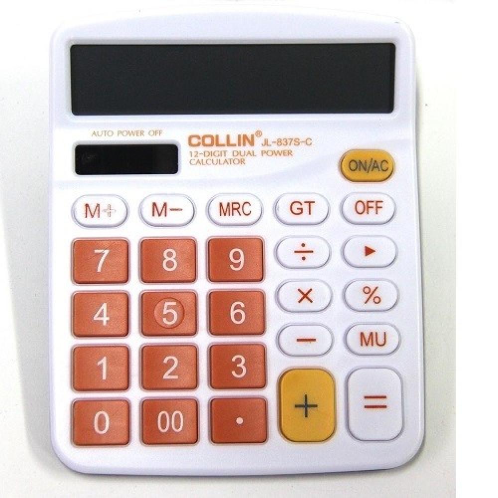 """Калькулятор """"837S"""" (JL-837S-C) 12-разрядный"""