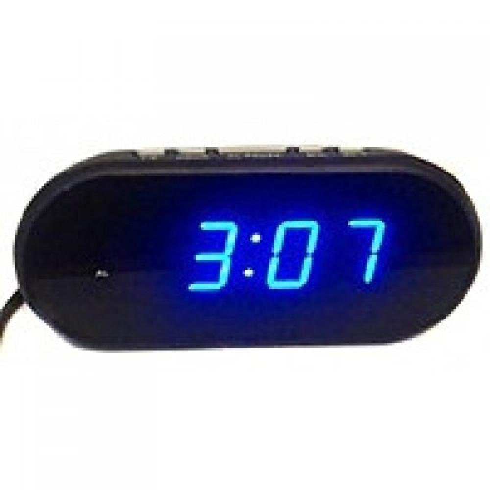 """Настольные часы с будильником от сети с синей подсветкой """"VST-712-5"""""""