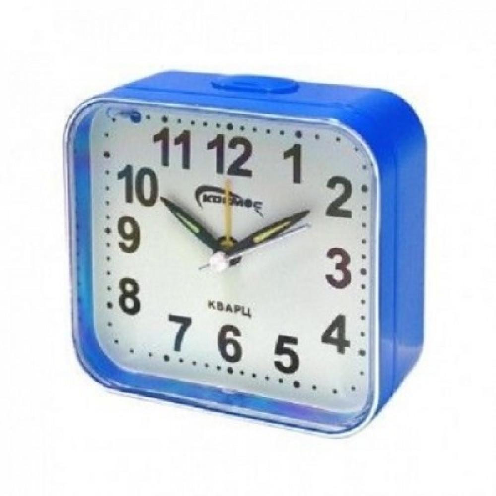 """Настольные часы с будильником """"КОСМОС 0052-1"""""""